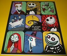 DiSNEY Sticker Sheet~NiGHTMARE BEFORE CHRiSTMAS~Tim Burton~Halloween~Christmas