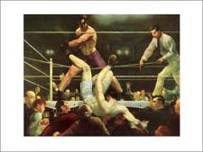 Classic Boxing Art JACK DEMPSEY VS FIRPO (1923) by Bellows Premium POSTER Print