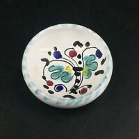 Vintage French Faience Pottery Trinket Dish Floral Labor Daluth Hand Painted 2""