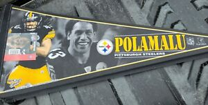 Troy Polamalu Ltd Ed #'d Pittsburgh Steelers pennant NEW 2006