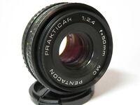 Prakticar Pentacon 50mm f2.4 Pancake Prime Standard Lens for Praktica or DSLR