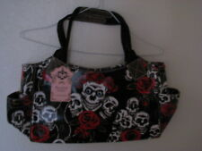 "Anna Smith New York Designer  ""Skulls and Roses"" Handbag Brand New"
