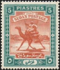 More details for sudan 1908  arab postman  5p.brown & green  chalk  sg.27a  mint (hinged) cat:£50