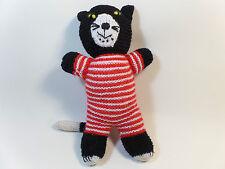 chat en peluche fait main  en laine