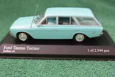 Minichamps RARE 1964 Ford Taunus P5 Turnier Light Blue 400 081410 Scale 1:43