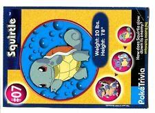 PROMO POKEMON BURGER KING CUT N°    7 SQUIRTLE CARAPUCE ....