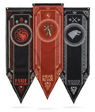 Game of Thrones Jon Snow Stark Banner Tapestry Family House Flag Hanging Drape
