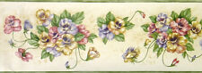 Brewster Pansy Clusters Wallpaper Border - 78B57956