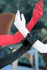 Gloves Red Satin Elbow Length Lingerie Lingere Wedding Evening Wear One Size