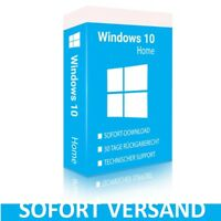Microsoft Windows 10 Home 32 & 64 bit Key Schlüssel Mehrsprachig Vollversion DE