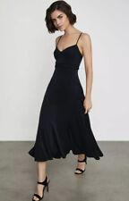 NWT BCBG MAXAZRIA Strappy Flared Midi Dress Color Black Size 10