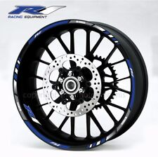 YZF-R1 motorcycle wheel decals stickers rim stripes Laminated yzf r1 blue white