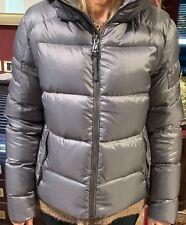 Ralph Lauren donna piumino invernale giacca giubbotto tg M argento cappuccio