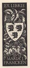 Ex Libris Mia Pot : Opus 72, Maria J. Francken