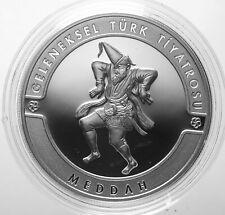 20 Lira 2017 Meddah Turkish Theater Turkey TÜRKEI 925 Silver PP