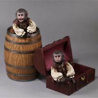 High Quality Mr.Z 1/6 2pcs Pirate Monkey + Bucket +Treasure Chest Set Figure Toy