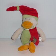 Doudou Canard Babynat Baby Nat' - Rouge Vert