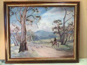 Dora Milne Droving Framed Oil Painting
