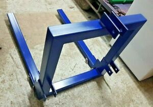 Tractor Attachment Hook Hitch 3 Point Lift Mount 1000mmFold Up Pallet Forks