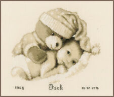 Vervaco Counted Cross Stitch Kit Baby & Teddy PN-0155574