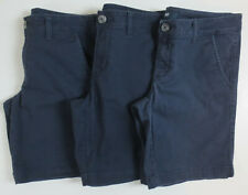 "LOT Aeropostale Aero 9"" Bermuda Shorts Womens Size 4 School Uniform Navy Prep"