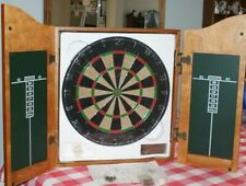 Wood Dart Cabinet with Dartboard and Darts