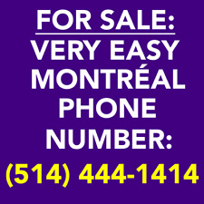 VERY EASY MONTREAL 514 VANITY PHONE NUMBER -- (514) 4 4 4 - x 4 x 4