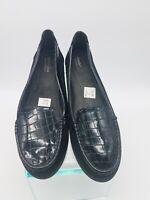 A909 Predictions Comfort Plus Womens Shoes Black Size 11W Faux Crocodile  909
