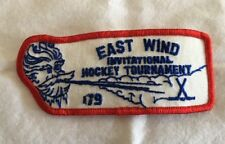 Vintage Patch East Wind Invitational Hockey Tournament 1979 Sew On Jacket Jersey