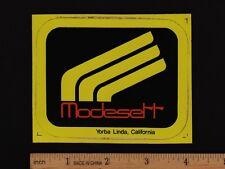 MODESETT Exhaust STICKER Decal Vintage Motorcycle Honda Yamaha Suzuki Kawasaki