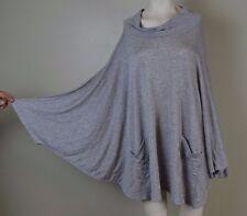 CHA CHA VENTE ~ Women's 3X ~ Gray Oversized bat Wing 1/3 Sleeve Shirt Blouse