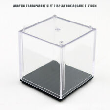 Clear Acrylic Display Case Box Dustproof Cube Showcase for Action Figure Models