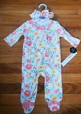 NEW!! Nicole Miller Baby Girl 1pc Outfit With Headband Size 3-6m