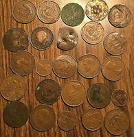 LOT OF 25 FOREIGN COIN MOSTLY GB
