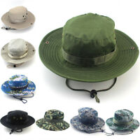 Bucket Hat Hunting Fishing Outdoor Sun  Cap Wide Brim Military Unisex Sun Cam JR
