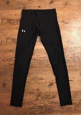 UNDER ARMOUR Heat Gear Women's Running Leggings Medium Compression Fit Black