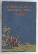 May, 1923 Nile Shrine Temple Ceremonial Pamphlet, Seattle, WA, Nice Graphics