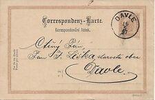 2 Kreuzer Ganzsache braun 1897 von Davle ( Tschechien ) nach Davle