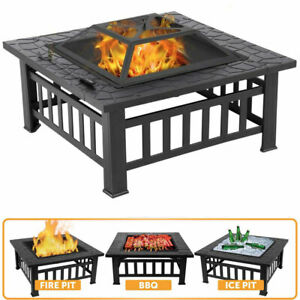 Firepit BBQ Grill Garden Patio Heater Stove Fire Pit Brazier Barbecue Ice Bucket