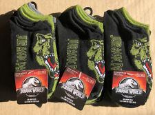 Lot of 18 Pairs NEW Jurassic World No Show Socks Size M Shoe Size 9 - 2 1/2 Boys