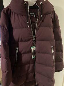 DKNY coat. Size XL. Wine Colour