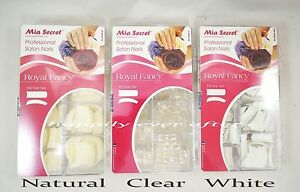 Mia Secret Professional Nail Tips - 500 PCs - White, Clear or Natural *US SELLER