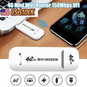 USB Dongle Stick Mobile Broadband SIM Card Modem Unlocked 4G LTE WIFI Wireless