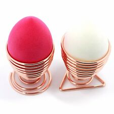 Gold Metal Egg Shape Makeup Sponge Powder Puff Drying Storage Stand Holder Rack