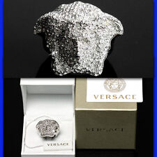 GIANNI VERSACE Jeweled SILVER MEDUSA RING w/ Box & Certificate (10)