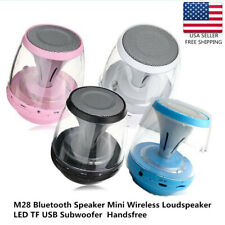 M28 Bluetooth Speaker Mini Wireless Loudspeaker LED TF USB Subwoofer  Handsfree