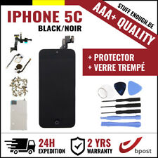 AAA+ LCD SCREEN SCHERM ÉCRAN ASSEMBLY BLACK NOIR+TOOL&VERRE TREMPÉ FOR IPHONE 5C