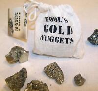 BAG OF PYRITE FOOLS GOLD NUGGETS rocks stones tricks pranks fake treasure NEW