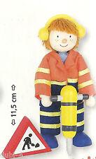 Goki 51631 - Biegepuppe Bauarbeiter II Puppenhaus Holz