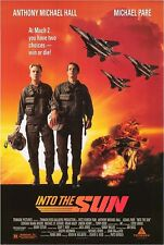 INTO THE SUN ORIG ROLLED MOVIE POSTER 1992 ANTHONY MICHAEL HALL FIGHTER PILOT